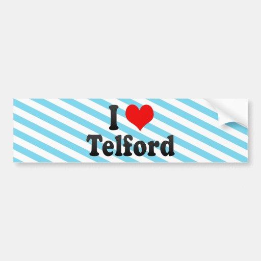 I Love Telford, United Kingdom Bumper Sticker