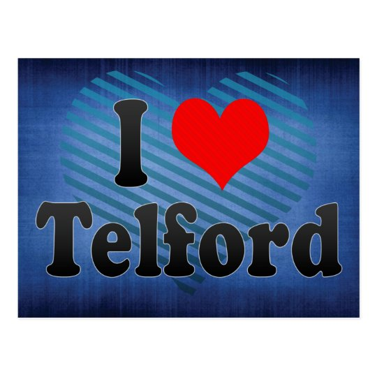 I Love Telford, United Kingdom Postcard