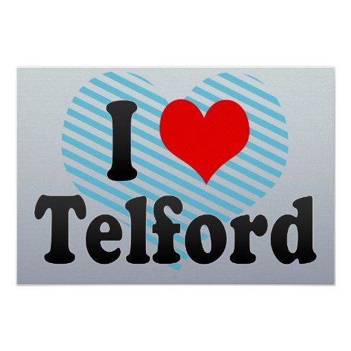 I Love Telford, United Kingdom Print