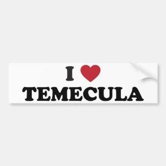 I Love Temecula California Bumper Sticker