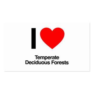 i love temperate deciduous forests business cards