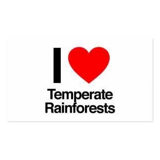 i love temperate rainforests pack of standard business cards