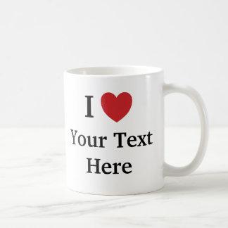 I Love Template Mug - Add Text