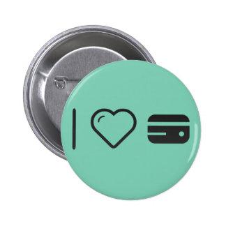 I Love Temporary Credits 6 Cm Round Badge