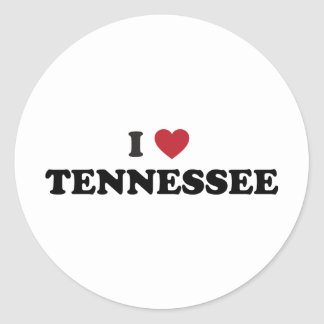 I Love Tennessee Classic Round Sticker