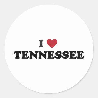 I Love Tennessee Round Sticker