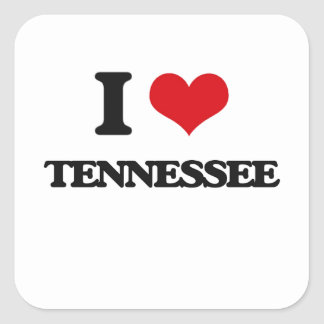 I love Tennessee Square Sticker