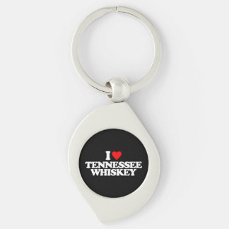 I LOVE TENNESSEE WHISKEY Silver-Colored SWIRL KEY RING