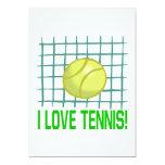 I Love Tennis 13 Cm X 18 Cm Invitation Card