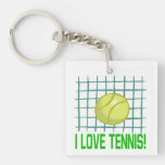 I Love Tennis 2.png Acrylic Key Chain