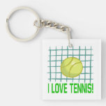 I Love Tennis 2.png Acrylic Key Chains
