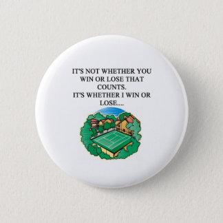 i love tennis 6 cm round badge