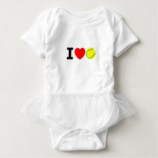 I Love Tennis Baby Bodysuit