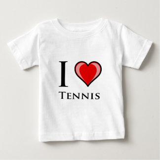 I Love Tennis Baby T-Shirt