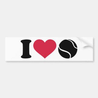 I love tennis ball bumper stickers