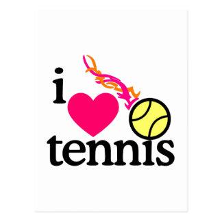 I Love Tennis/Ball Postcard