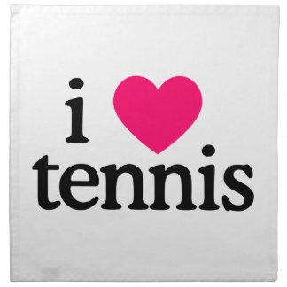 I Love Tennis Printed Napkin