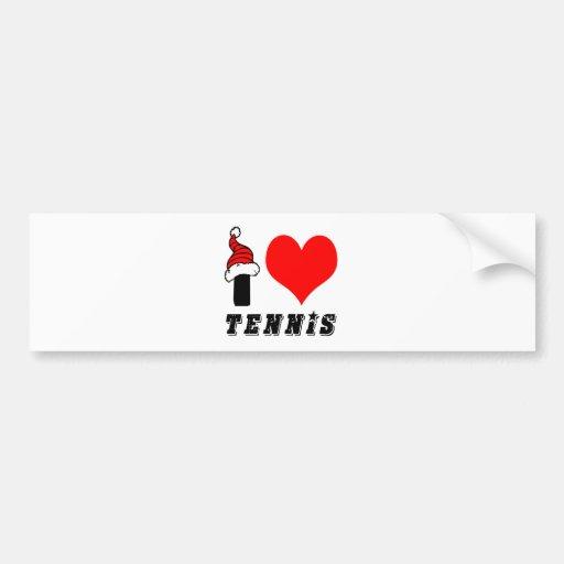 I Love Tennis Design Bumper Sticker
