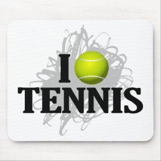 I Love Tennis Emblem Mouse Pad