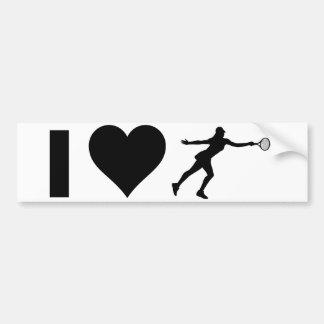 I Love Tennis (Female) Bumper Sticker