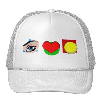 I love tennis mesh hat