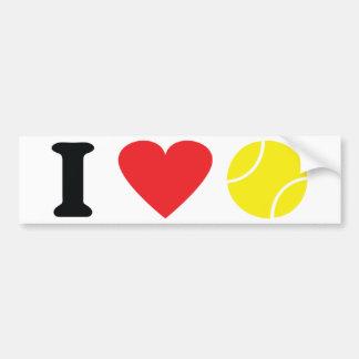 I love tennis icon car bumper sticker