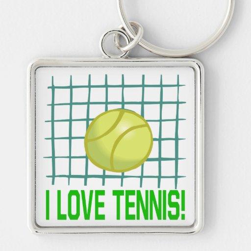 I Love Tennis Keychain