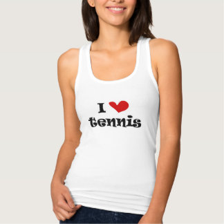 I love tennis ladies tank tops for women and girls