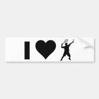 I Love Tennis (Male) Car Bumper Sticker