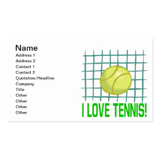 I Love Tennis Pack Of Standard Business Cards