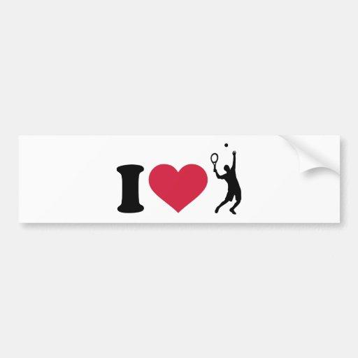 I love tennis player bumper stickers