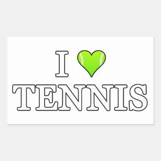 I Love Tennis Rectangular Sticker