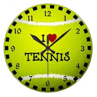 I Love Tennis - Tennis Ball Wallclocks
