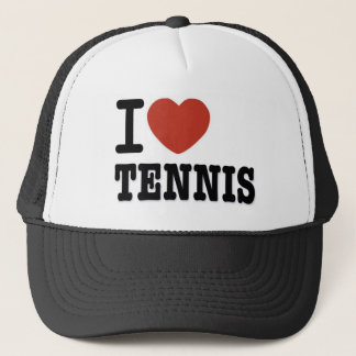 I LOVE TENNIS TRUCKER HAT