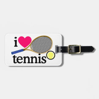 I LOVE TENNNIS BAG TAG