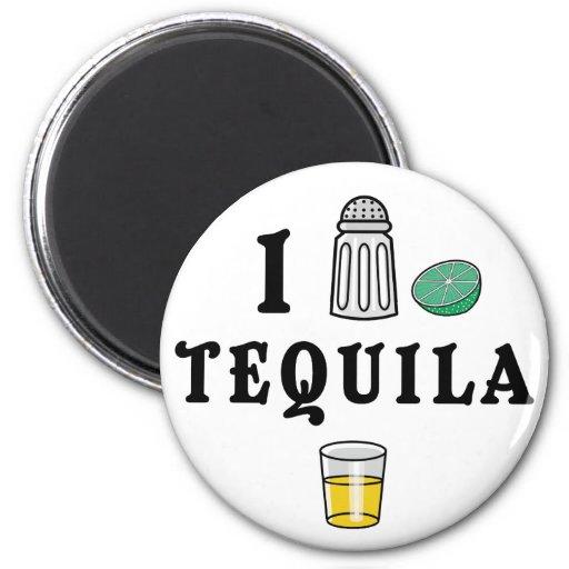 I Love Tequila 6 Cm Round Magnet