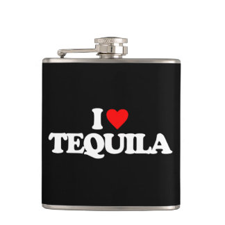 I LOVE TEQUILA HIP FLASK