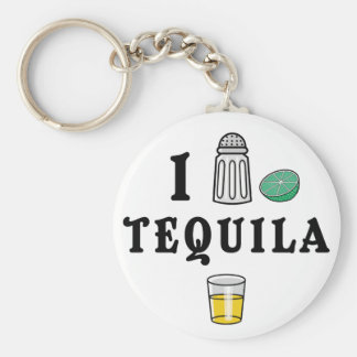 I Love Tequila Key Ring
