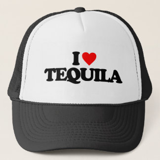 I LOVE TEQUILA TRUCKER HAT
