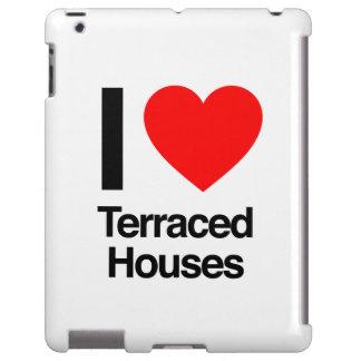 i love terraced houses iPad case