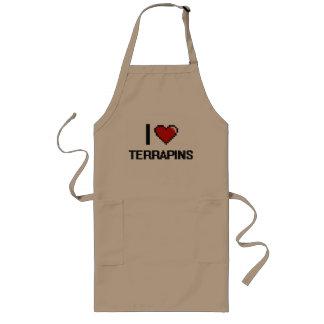 I love Terrapins Digital Design Long Apron