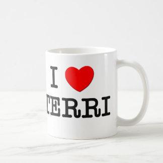 I Love Terri Basic White Mug