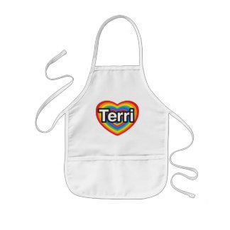 I love Terri I love you Terri Heart Aprons