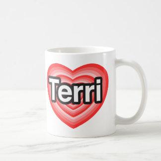 I love Terri. I love you Terri. Heart Basic White Mug