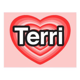 I love Terri. I love you Terri. Heart Postcard