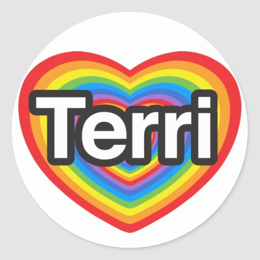 I love Terri. I love you Terri. Heart Sticker