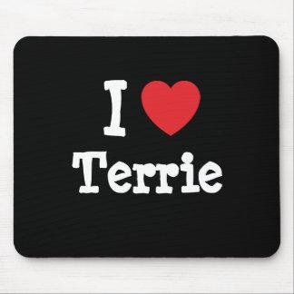 I love Terrie heart T-Shirt Mouse Mats