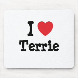 I love Terrie heart T-Shirt Mousepad