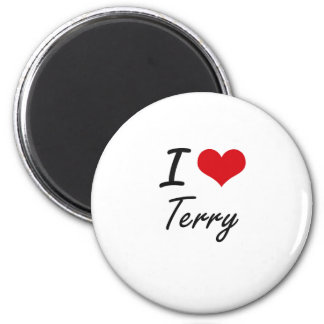 I Love Terry 6 Cm Round Magnet