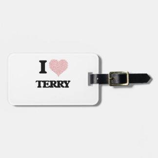 I Love Terry Bag Tags